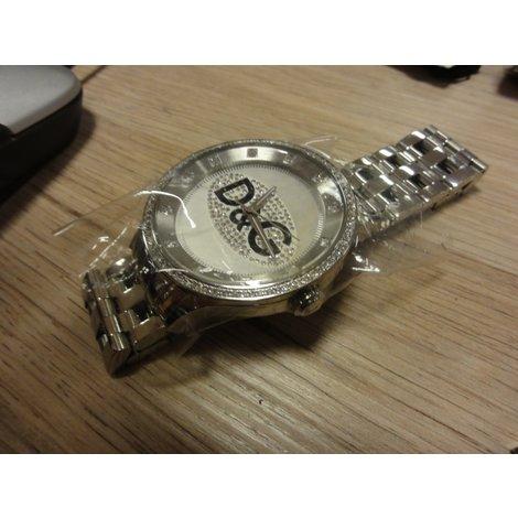 D&G Time Dw0379 horloge Nieuw Zilver