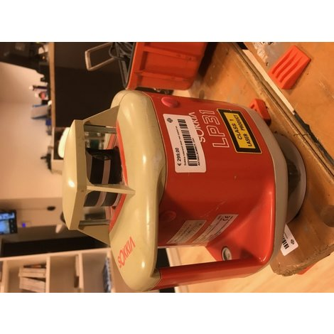 Sokkia roterend laser en ontvanger in koffer