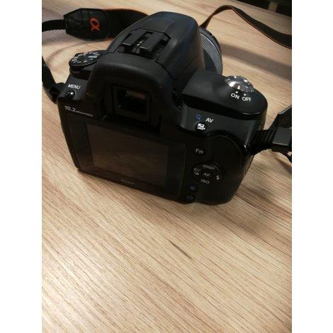 Camera sony Alpha 230 met 18-55 zoomlens en lader