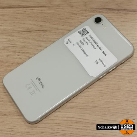 Apple iPhone 8 64gb Silver in zeer nette staat met oplader