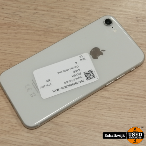 Apple iPhone 8 64Gb Silver in prima staat