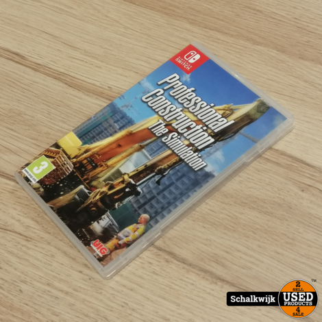Professional Construction The Simulation Nintendo Switch game