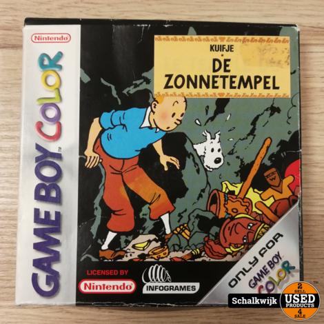 Kuifje de zonnetempel gameboy color in doos