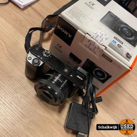 Sony Alpha 6000 met 16-50 mm lens in doos compleet