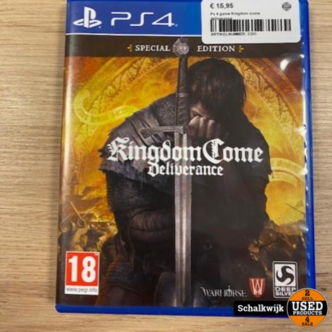 Ps 4 game Kingdom come deliverance