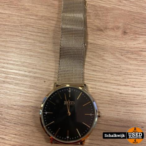 Hugo Boss HB 1513735 herenhorloge goudkleurig pas 3 mnd oud met aankoopbon