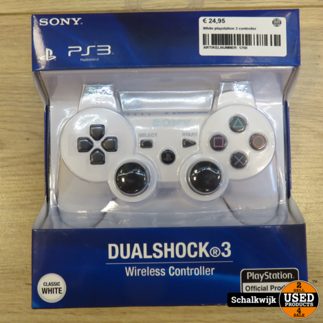 Playstation 3 controller Wit nieuw in verpakking