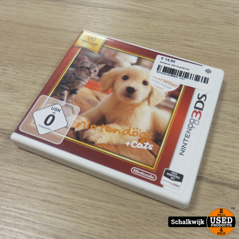 Dogs & Cats Nintendo 3DS Game in nette staat