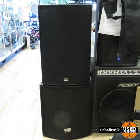 Dap Audio set 2x DRX15(200 watt cont) en 2x DAP PRO sub
