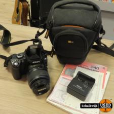 Nikon D40 + 18-55MM lens + oplader + tas