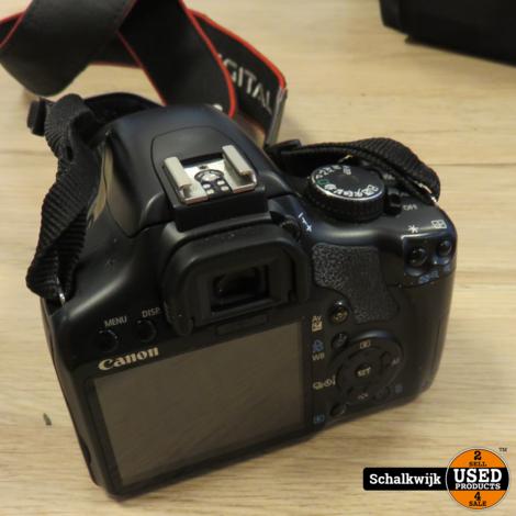 Canon EOS 450D camera met EfS 18-55mm compleet met lader 1 accu