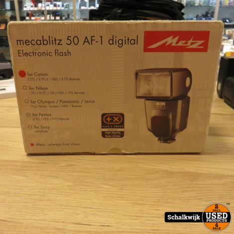 Metz MecaBlitz 50 AF-1 voor Canon in nette staat in doos