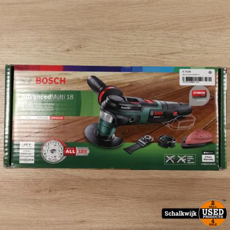 Bosch advanced Multi 18 Nieuw in doos