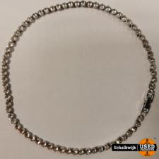 Swarowski Ketting 30cm zilver met steentjes in zeer nette staat