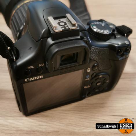 Canon EOS 450D camera Tamron 55-200 lens, lader 1 accu
