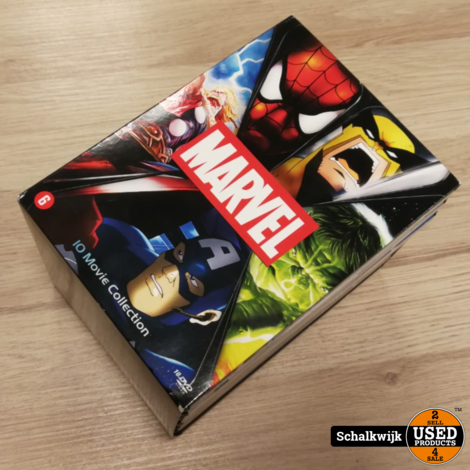 Marvel 10 Movie Collection Animatie in nette staat - compleet op DVD