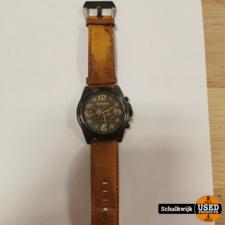 Timberland Heren horloge type 14518j 5atm waterresistant met lederen band