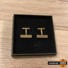 Gouden manchetknopen 14 Karaat 10 gram