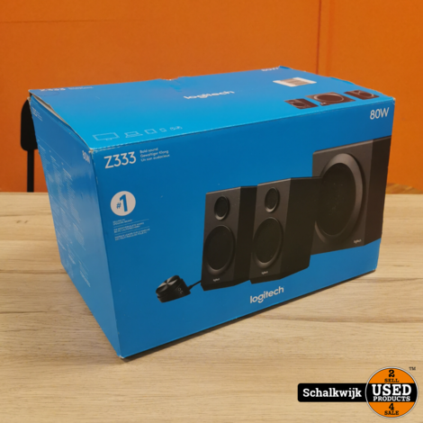 Logitech Z333 speakers 80 Watt in doos garantie tot 23-01-2022