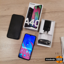 samsung Samsung Galaxy A40   64GB   Black   in doos   garantie 24-09-2021