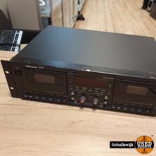 Tascam Tascam 302 dubbel cassettedeck 19 inch werkt perfect