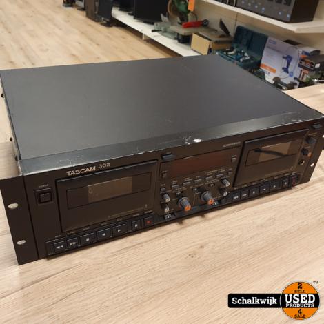Tascam 302 dubbel cassettedeck 19 inch werkt perfect
