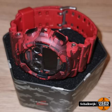 Casio Horloge - G-Shock - Leger Rood - in Blik - nieuwstaat