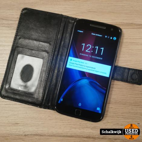 Motorola G4 Plus 16Gb zwart zonder lader met beschermhoes