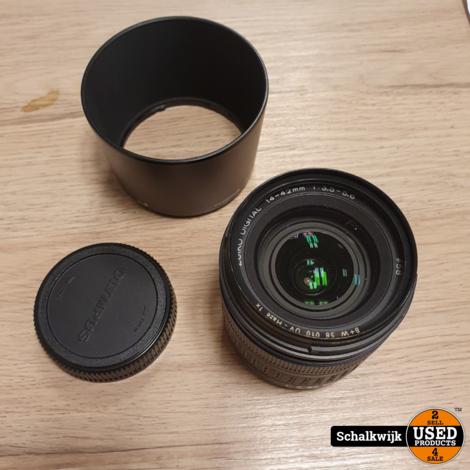 Olympus digital 1:3.5-5.6 14-42 mm lens met zonnekap in nette staat