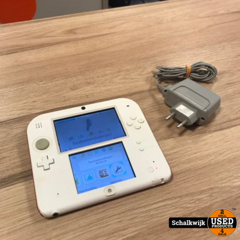 Nintendo 2DS Console Rood wit met oplader