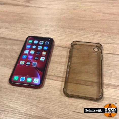 Apple iPhone XR 64gb Red in nette staat met oplaadkabel