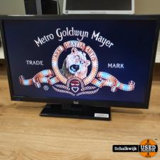 Dual Dual 24 inch LED TV met ingebouwde DVD-speler inclusief afstandsbediening
