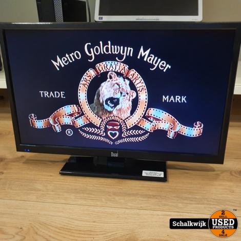 Dual 24 inch LED TV met ingebouwde DVD-speler inclusief afstandsbediening