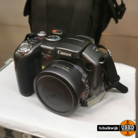 Canon Powershot S3 IS camera 6mp met tas (Batterijen)