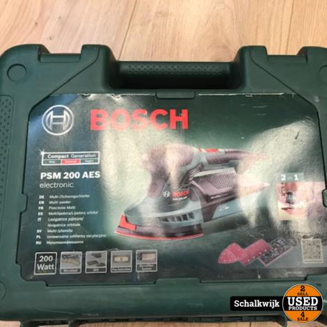 Bosch PSM 200 AES schuurmachine vlak en driehoek