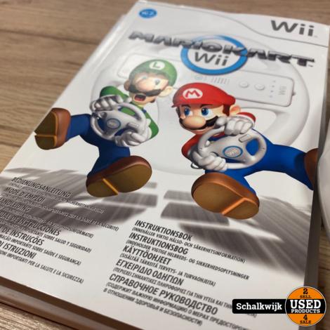 Mario Kart Wii in nette staat met stuur