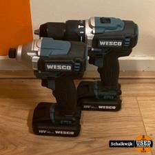 Wesco set boormachine met draagtas en oplader