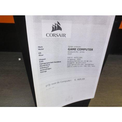 Corsair computer GAME COMPUTER met GeForce GTX 1060 | 6GB Grafische kaart