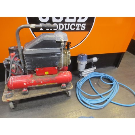 Bauger compressor 2012 series 8 bar 4+4 Ltr + Rufast Tacker