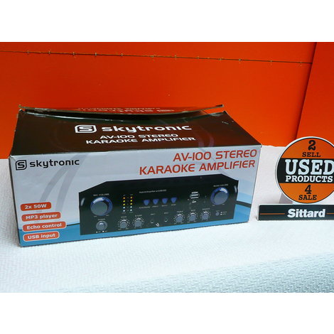 skytec karaoke set microfoon + versterker