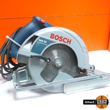 Bosch GKS 55 - 1200w Cirkelzaag , nieuwprijs € 219,99