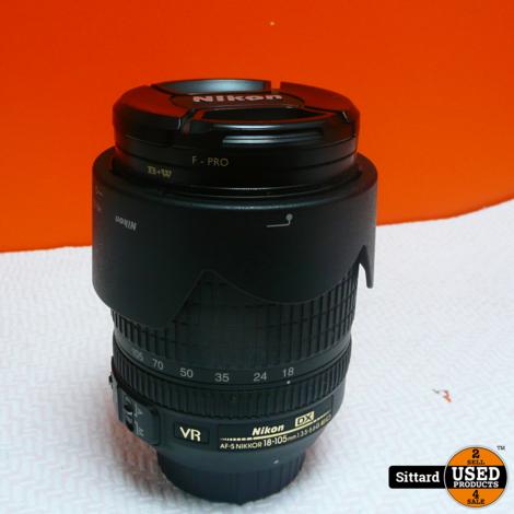 Nikkor af-s 18-105mm f/3.5-5.6g ed vr , nieuwprijs € 299,99