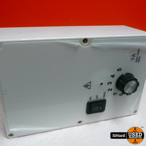 5 standen toerenregelaar 230Volt / 7 Amp. | NIEUW | elders 150 euro