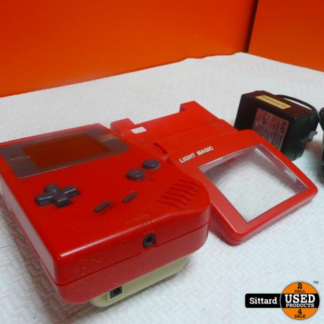 Gameboy Color - Rood , in gebruikte staat