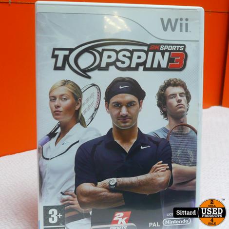 Wii Game - Topspin 3 , Elders voor 6.99 Euro