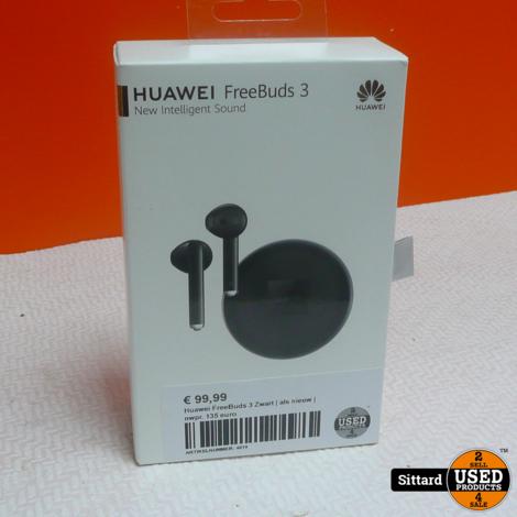 Huawei FreeBuds 3 Zwart | als nieuw | nwpr. 135 euro