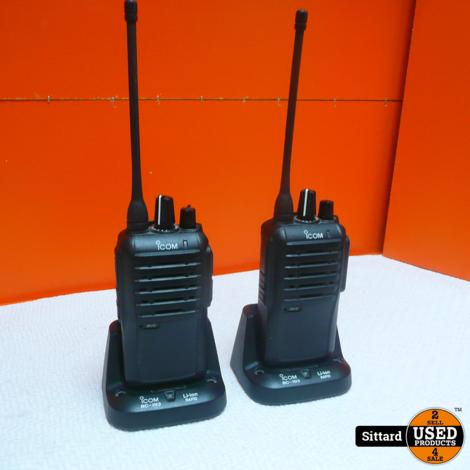 set van 2x ICOM IC-F4002 PMR UHF TRANSCEIVER / portofoon in prima staat | nwpr 139.50 / stuk