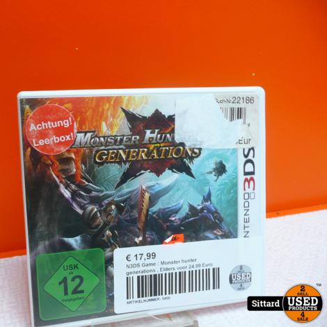 N3DS Game : Monster hunter generations , Elders voor 24.99 Euro