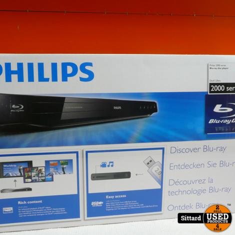 Philips BDP2800 Blu-Ray speler, als nieuw