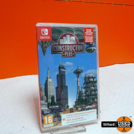 Nintendo Switch Game - Constructor Plus NIEUW , nwpr. 27.99 Euro